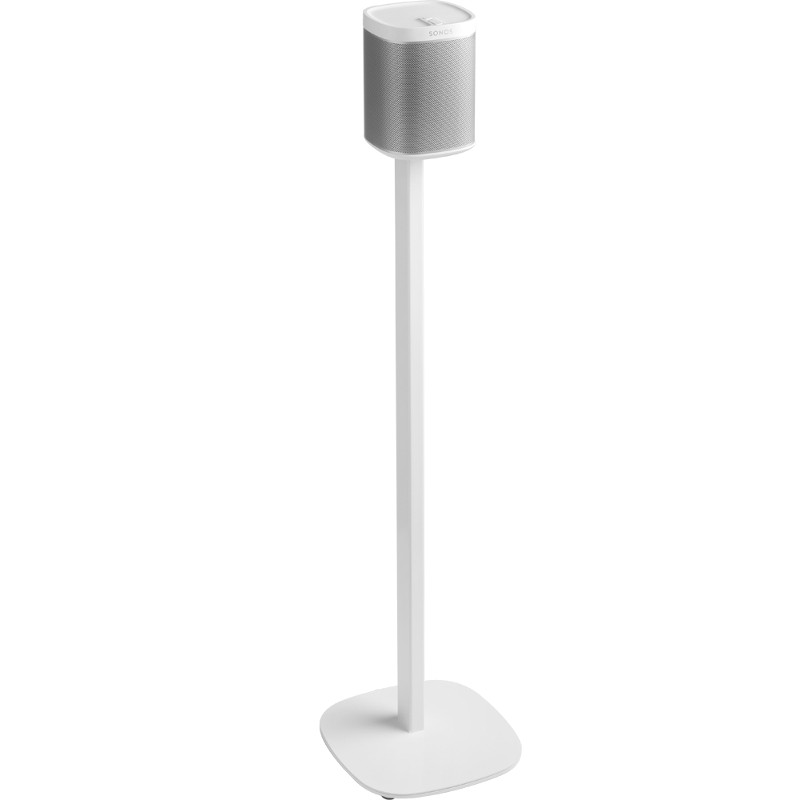 floor stand for sonos play 1 in white products. Black Bedroom Furniture Sets. Home Design Ideas