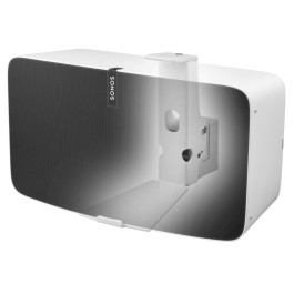 Full Motion Wall Mount Suitable for Sonos PLAY:5 (Gen 2) Horizontal White