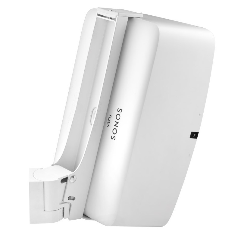 Full Motion Wall Mount Suitable For Sonos PLAY5 Gen 2 Vertical White