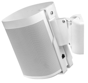 Full Motion Wall Mount for Sonos ONE White
